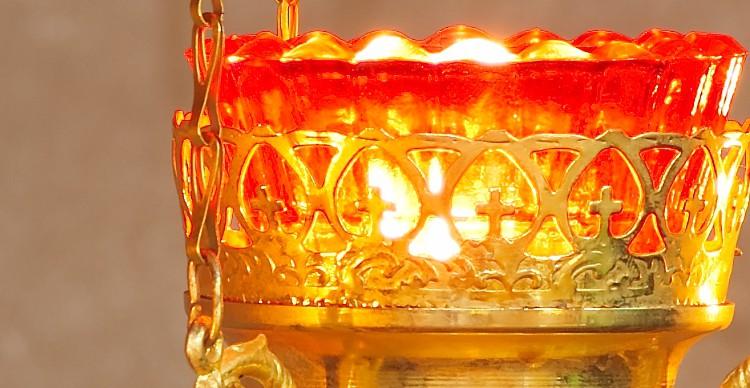 Golden lamp closeup banner