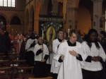 procession out after Mass