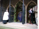 entering the Holy Door for the first time
