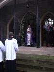 priest opens Holy Door
